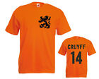 Johan Cruyff No 14 T-shirt, Ajax, Dutch legend,  printed mans football t-shirt