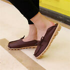Women Ladies Leather Comfort Casual Walk Bowed Flat Shoes Loafers Moccasin 4.5-9