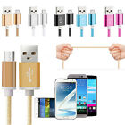 Aluminium Braided Micro USB Data Sync Charger Cable Lead for Android Phones