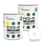Smartbuy DVD-R 16X 4.7GB/120Min White Top (Non-Printable) Blank Recordable Disc