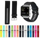 Sport Silicone Rubber Watch Band Strap For Fitbit Blaze Activity Tracker S & L