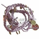 Charm Multi-element Fashion Velvet Rope Bracelet Pendant Wristband Girl Lady