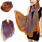 Women Lady Voile Neck Soft Long Shawl Wrap Scarf Beach Dress Autumn Pashminas