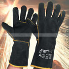 1, 3 Pairs Heavy Duty Black Mig Welding Gloves Gauntlets Welders Leather Gloves.