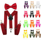 Внешний вид - New Elastic Kids Suspenders and Bow Tie Combo Set Adjustable Boys Girls Toddlers