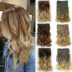 lady 60CM One Piece Clip in Ombre Hair Extensions Head Curly Wavy Synthetic Hair