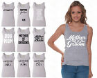 60 DESIGNS Mother's Day Women Tank Top T-shirt Mom's Gift GRAY - 2