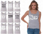60 DESIGNS Mother's Day Women Tank Top T-shirt Mom's Gift GRAY - 4
