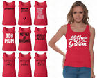 60 DESIGNS Mother's Day Women Tank Top T-shirt Mom's Gift RED - 2