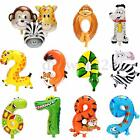 Animal Foil Number Balloons Kids Party Birthday Wedding Festival Decoration Gift