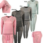 Womens Diamante Wings Joggers Cuffed Lounge Wear Jumper Tracksuit Small - Plus