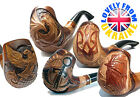 New Fashion Hand Carved Tobacco Smoking Pipe Pipes Handmade Pipe for 9 mm Wood