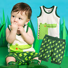 "Vaenait Baby Kid Girls Boys Sleeveless Outfit Pajama set ""Cool Alligator"" 12M-7T"