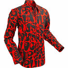 Chenaski Mens 60s 70s Red Black Moloko Psychedelic Pop Art Shirt VTG New