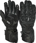 Weise Tornado Black Leather Sport Armoured Race Motorcycle Gloves RRP £79.99!!