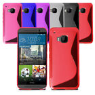 Slim Soft Wave Gel Case Soft Phone Back Cover For HTC One M9 & Screen