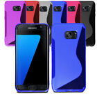 Ultra Slim Soft Wave Gel Case Soft Phone Cover For Samsung Galaxy S7 & Screen