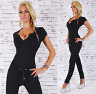 Sexy New Black Women Playsuit Jumpsuit Overall Skinny Slim V Neck  Y 201