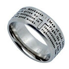 MAN OF GOD Jewelry Cross Ring For Men, Stainless Steel