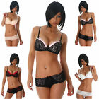 Push-Up Dessous Set Bügel-BH & Slip Wäsche Underwear Damen Dessou Lingerie Größe