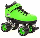 2016 Riedell Dart Quad Speed Roller Skates in Green! W/ 2 Pr of Laces!