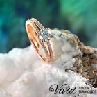 1.47 TCW Certified Diamond Engagement Ring 14k Gold Size 8 VVS/I-J Real Enhanced