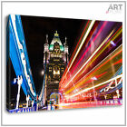 Canvas Print London Tower Bridge At Night Framed Canvas Wall Art Picture