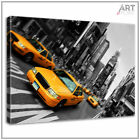 Canvas Print New York Yellow Taxi City Scene Framed Wall Art Picture