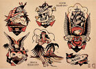 Sailor Jerry vintage poster №2 print giclee on canvas and paper 8X12&12X17