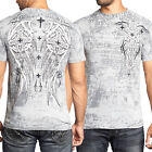 Xtreme Couture Darker Side Celtic Cross Medieval UFC MMA Mens TShirt Silver S-M