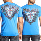 Xtreme Couture Honor Glory Wing Emblem Stars UFC MMA Mens T-Shirt Blue NEW S-2XL