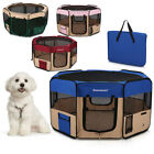 Dog Kennel Pet Fence Puppy Soft Oxford Playpen Exercise Pen Folding Crate M / L