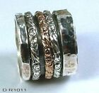 Israeli Spinning Ring Silver and Gold Israel Jewelry Spinner ring Jewelry
