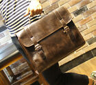 Men's Business Case Briefcase PU Leather Shoulder Suitcase Messenger Laptop Bag