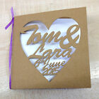 Personalised laser cut wedding invitation 145x145 custom names and date