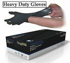 Unigloves Powder Free Commercial Black Nitrile Gloves Extra Strong Large X-Large