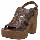 Lucky Brand Womens Teri Slip On Peep Toe Buckle Ankle Strap Platforms Heels