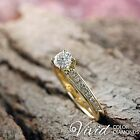 Women Diamond Engagement Ring 14k Solid Gold 1.41 TCW SI/I-J Size 5 Enhanced