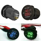 2in1 12V/24V LED Digital Voltmeter Ammeter & Voltage Meter For Car Motorcycle