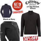 CALLAWAY GOLF FLEECE 1/4 ZIP GOLF JUMPER NEW 2016 BLACK OR NAVY MENS GOLF JUMPER