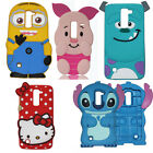 3D Soft Silicone Phone Back Case Cover for LG Q7 X210g /Q10 K410g/ Zero H740