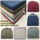 Quality Chunky Chenille Piped Edge Seat Chair Zip Off 5cm Foam Pads UK MADE