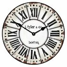 French Tower LARGE WALL CLOCK 10- 48 Whisper Quiet Non-Ticking WOOD HANDMADE