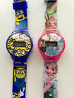 Boy Kid Child Girl Minions Frozen Digital Silicone Band Wrist Watch Gift her him