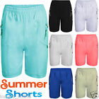 WOMENS LADIES ELASTICATED SHORTS ZIP POCKETS COTTON SUMMER GIRLS SEXY HOT PANTS