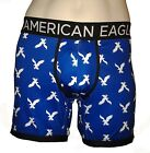 "NWT AMERICAN EAGLE OUTFITTERS MENS 6"" EAGLES FLEX ICON TRUNKS NEW AEO BLUE BOXER"