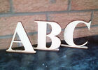 Wooden 100mm Letters On Stand  Shape Desk Top Name Times New Roman Letters #129