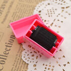 1 Pc Hide ID Garbled Roller Rubber Stamp Mini Seal Toy with Plastic Case