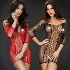 Sexy Sleepwear Lingerie Nightie Babydoll Fishnet Dancewear Pubbing Mini Dress