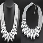 Women's Exaggerated Multilayer Weave Short Mesh Chain Necklace Fashion Jewelry
